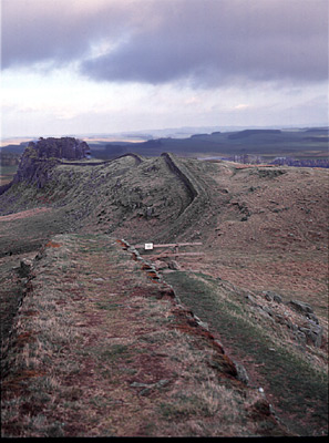 Hadrian's wall, Roman, second century CE.