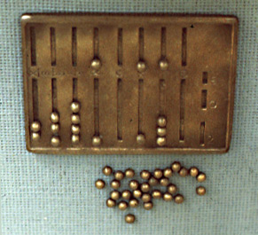 Ancient Roman Counting Beads and Abacus.