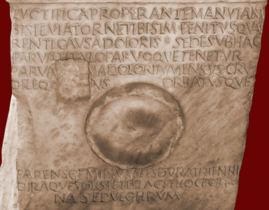 Aelia Sabina inscription side