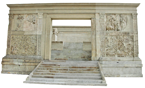 Ara Pacis west entrance