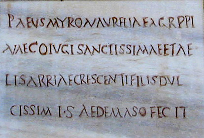 archaic inscription
