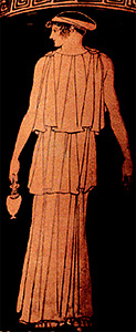Athenian woman on vase