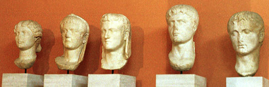 busts of Augustus and family