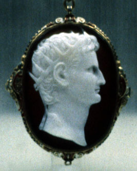 cameo of Augustus with solar crown
