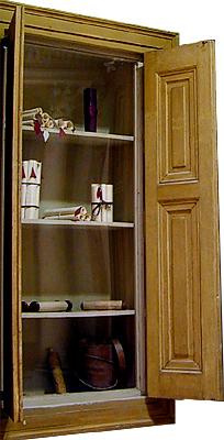 reconstructed bookshelf