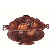 Glass Bowl Containing Roman Figs.