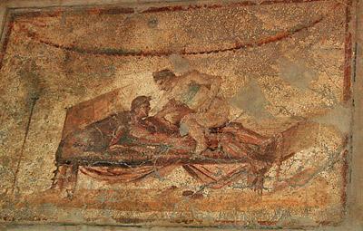 fresque lupanar de pompei