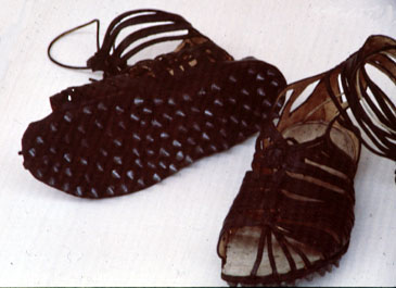 Replica of Roman soldier's hobnailed boots (caligae).