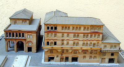 Model Of Roman Apartment Building From Ostia Front View