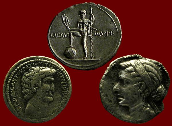 Antony, Octavian, Cleopatra
