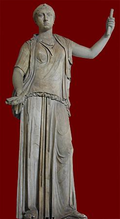 standing female in Greek dress