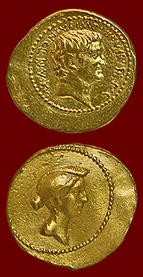 coin of Antony and Octavia