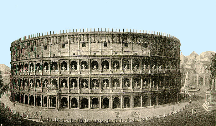 reconstruction drawing of Colosseum