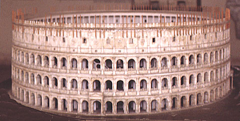 Model of the Roman Colleseum.