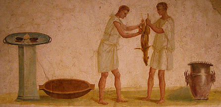 Roman Slaves Working and Preparing a Meal.