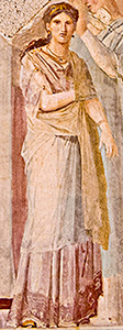 Roman woman on fresco
