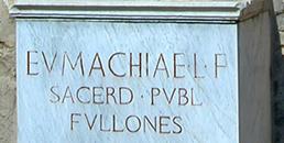 inscription on Eumachia statue base