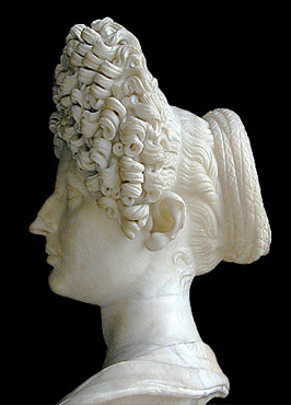 Flavian hairstyle--side