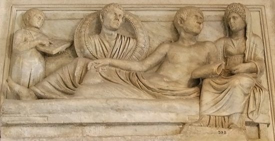 funerary relief with abacus