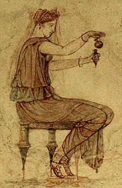 woman with perfume vial