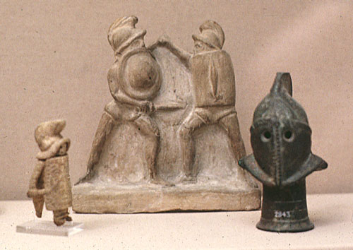 statuettes of gladiators