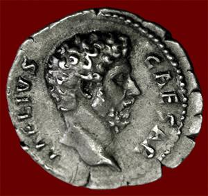 denarius depicting Aelius Caesar