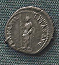 Denarius of Hadrian, 117-138 CE.