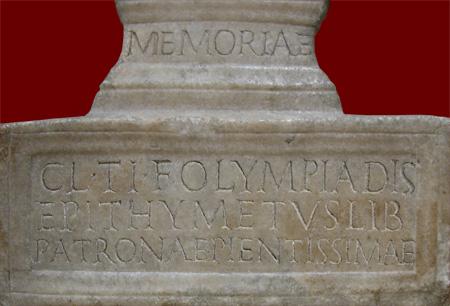 Olympias inscription