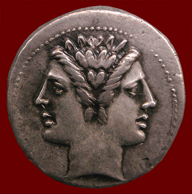 Republican coin showing Janus