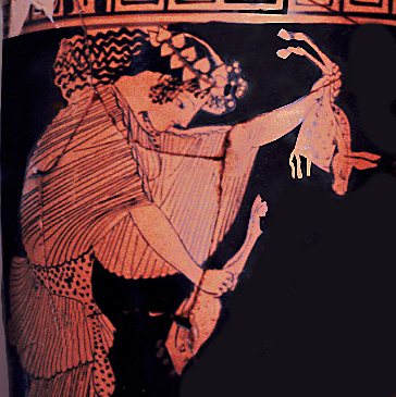 maenad with torn-up animal