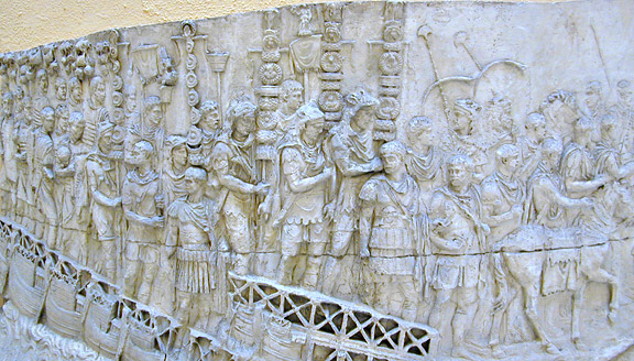 relief of military parade