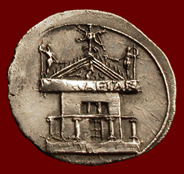 coin showing Curia