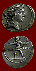 military coin of Octavian