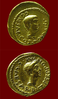 coin of Octavian and Caesar