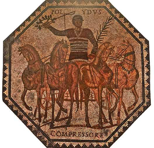 mosaic of charioteer