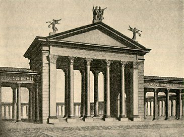 drawing of Portico of Octavia