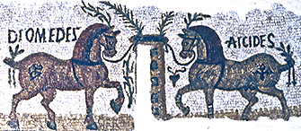 mosaic of race horses