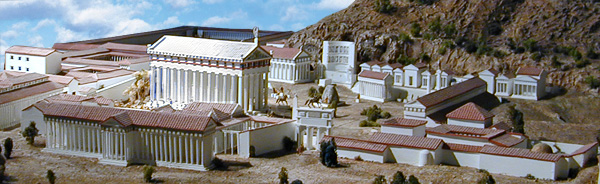 model of Olympia during Roman period
