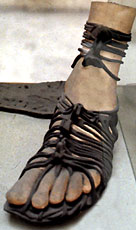 Replica of a Roman sandal modern.