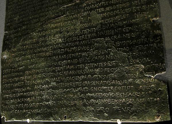oldest senatus consultum