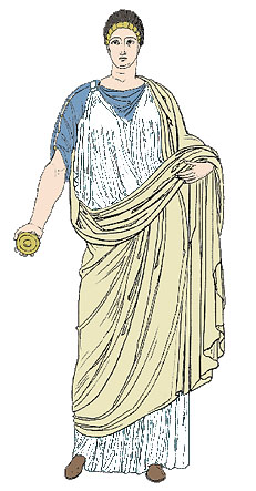 Drawing of a Roman Woman.