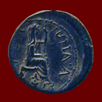 coin of Tiberius from Cyprus