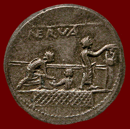 coin with voting scene