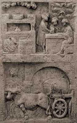 Ancient Roman Trade Wine Selling.