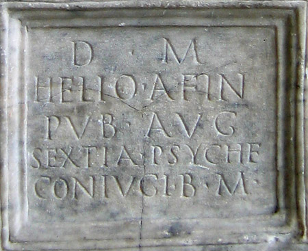 Psyche inscription