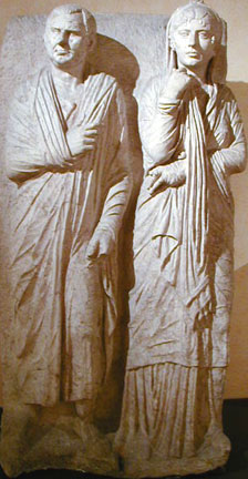funerary statue of couple