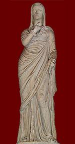 statue of Roman woman in Pudicitia pose