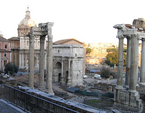 Forum Romanum; view from southwest. VRoma image archive.