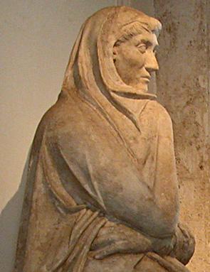 funerary, woman's torso