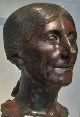 bronze female head
